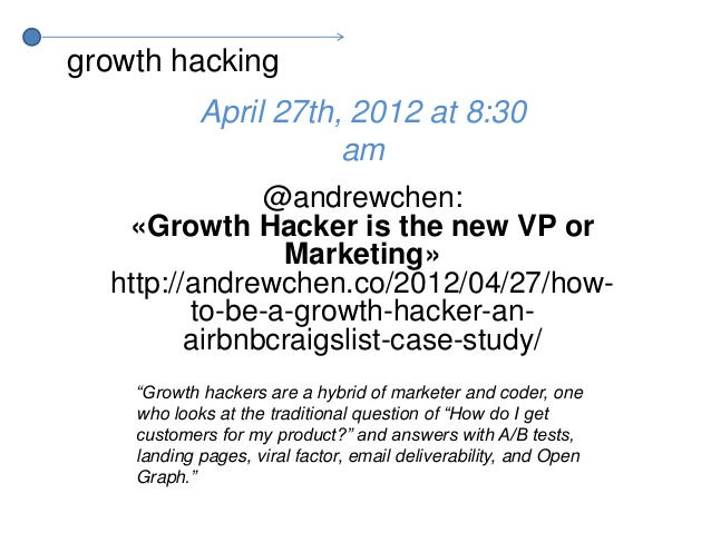 ※ 이미지 출처 : http://www.slideshare.net/salvador1010/growth-hack