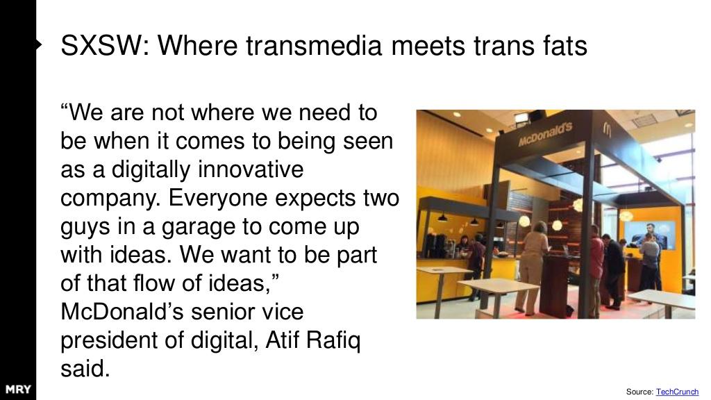 디지털, 혁신 같은 단어와는 거리가 멀 거 같은 맥도날드 부스에 누군가 불쑥 와서 아이디어를 들려줘도 전혀 이상하지 않은 곳이다.