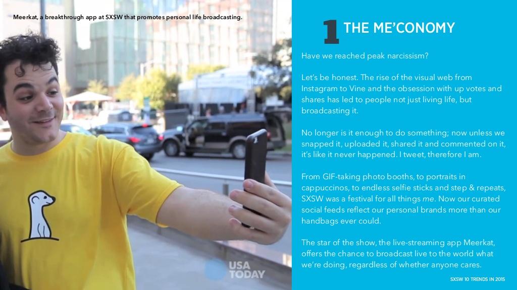 Meerkat은 우리나라의 아프리카 TV가 모바일화된 거라고 여기면 이해하기가 쉬울텐데, 올해 SXSW에서 가장 주목 받았던 앱.