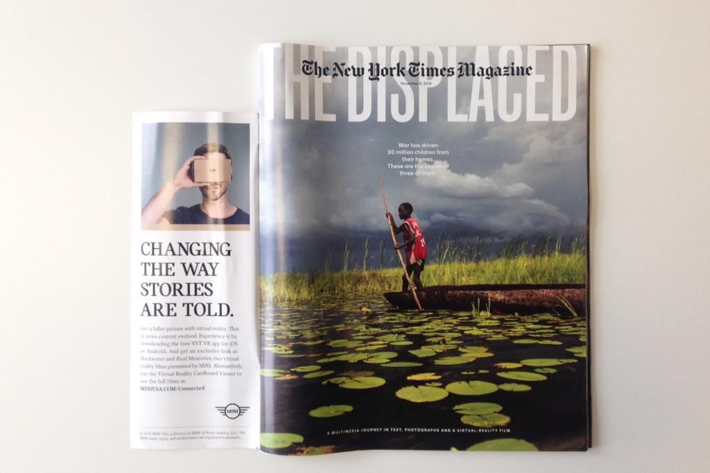 이미지 출처 : Creative Review https://www.creativereview.co.uk/new-york-times-magazine-brings-vr-to-its-latest-special-issue/